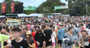 People enjoying Longitude Festival at Marlay Park on Friday. Photograph: Sasko Lazarov/Photocall Ireland