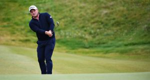 Zander Lombard has the halfway lead in the Irish Open at Lahinch. Photograph: Jan Kruger/Getty