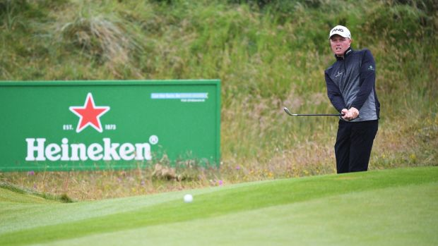 Robin Dawson surged up the Irish Open leaderboard with a third round of 64 at Lahinch. Photograph: Jan Kruger/Getty