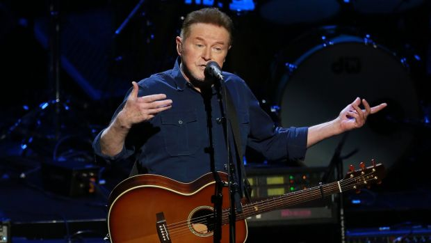 Irish love: Don Henley of The Eagles on stage at the 3Arena, Dublin, on Saturday night. Photograph: Crispin Rodwell for The Irish Times