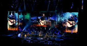The Eagles performing at  the 3Arena, Dublin, on Saturday night. Photograph: Crispin Rodwell for The Irish Times