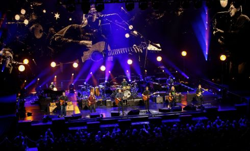 The Eagles performing at the 3Arena, Dublin, on Saturday. Photograph:  Crispin Rodwell for the Irish Times
