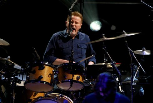 Don Henley, co-founding member of The Eagles,  on the drums at  the 3Arena, Dublin, on Saturday night. Photograph:  Crispin Rodwell for the Irish Times