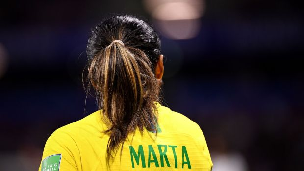 Brazil's Marta is likely to have made her final appearance at the World Cup. Photograph: Franck Fife/AFP/Getty