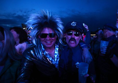 Revellers enjoying the 3 day Forever Young 80s Music festival, at Palmerstown House Estate, near Naas. Photograph: Alan Betson / The Irish Times