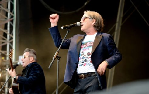 Members of China Crisis performing at  the 3 day Forever Young 80s Music festival, at Palmerstown House Estate, near Naas. Photograph: Alan Betson / The Irish Times