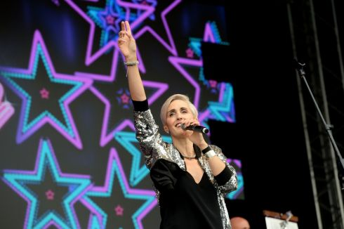 Alison Wheeler from the South performing at  the three  day Forever Young 80s Music festival, at Palmerstown House Estate, near Naas. Photograph: Alan Betson / The Irish Times