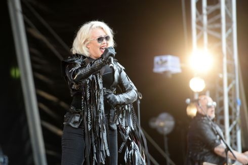 Kim Wilde  performing at  the 3 day Forever Young 80's Music festival, at Palmerstown House Estate, near Naas. Photograph: Alan Betson / The Irish Times