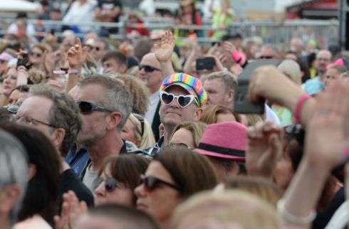 Revelers enjoying the 3 day Forever Young 80's Music festival, at Palmerstown House Estate, near Naas. Photograph: Alan Betson / The Irish Times