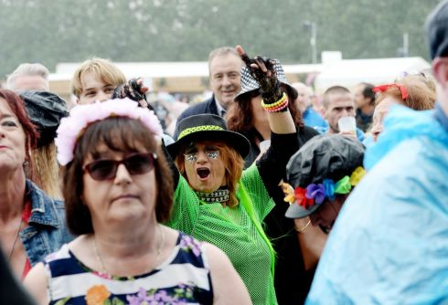 Revelers enjoying the three  day Forever Young 80s Music festival, at Palmerstown House Estate, near Naas. Photograph: Alan Betson / The Irish Times