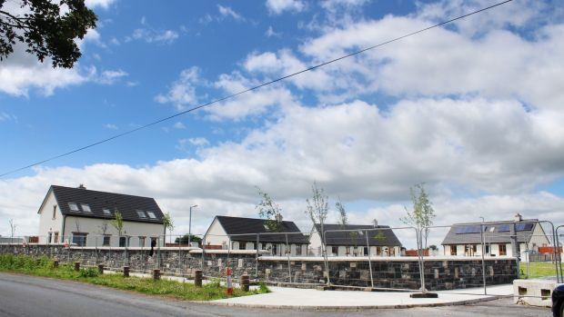 The new houses for Traveller families at Cabragh Bridge, Thurles, Co Tipperary. Photograph: Simon Carswell