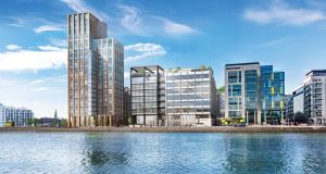 Investors like Kennedy Wilson and Carysfort Capital are setting new rental highs in the docklands, with rents ranging from €3,300 at Capital Dock for a two -bed apartment and from €3,700 at Opus on Hanover Quay.