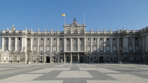 The Royal Palace of Madrid. Its construction put a severe strain of Spain's finances.