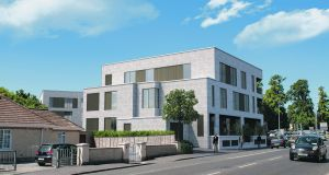 An artist's impression of the proposed apartment complex at Loreto Terrace, Rathfarnham, Dublin