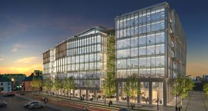 An artist's impression of the Bonham Quay office scheme in Galway which is now under construction.