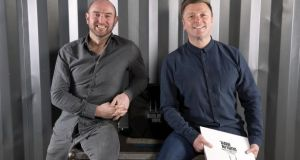"Donagh Molloy and Hugh Scully of Dublin Vinyl. ""We've done feasibility studies through Enterprise Ireland on other markets and really think we can make a go of this,""says founder Scully, a former DJ"