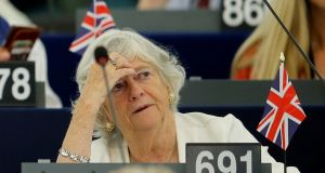 Brexit Party member and MEP Ann Widdecombe attends a debate on the last European summit at the European Parliament in Strasbourg, France on July 4th. Photograph: Vincent Kessler/Reuters