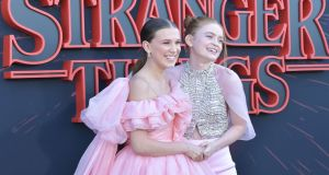 Millie Bobby Brown and Sadie Sink at the premiere of Netflix's Stranger Things. Photograph:  Amy Sussman/Getty