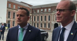 Taoiseach Leo Varadkar and Tánaiste Simon Coveney: a crash-out Brexit 'would involve additional costs for and disruption to businesses throughout the island, particularly those in Northern Ireland.' Photograph: PA