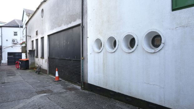 The site of the new temporary gallery space in Galway: Before
