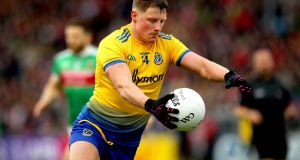 "Roscommon's Conor Cox: ""He came in, was very, very relaxed, and I think his football skills speak for themselves."" Photograph: Ryan Byrne/Inpho"