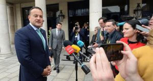 Taoiseach Leo Varadkar has defended Minister of State for Defence Paul Kehoe. Photograph: Dara Mac Dónaill / The Irish Times