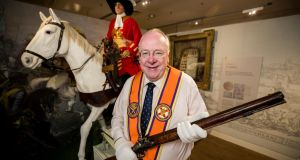 Orange Order grand secretary Mervyn Gibson, at the Museum of Orange Heritage,  Belfast. Photograph: Liam McBurney