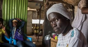 Majok Lam from South Sudan in Kakuma refugee camp, northwest Kenya, in October 2018: would like to return home with an education. Photograph: Sally Hayden