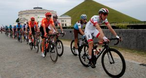 UAE Team Emirates rider Dan Martin moved up two places after the fourth stage of the Tour de France on Tuesday. Photo: Christian Hartmann/Reuters