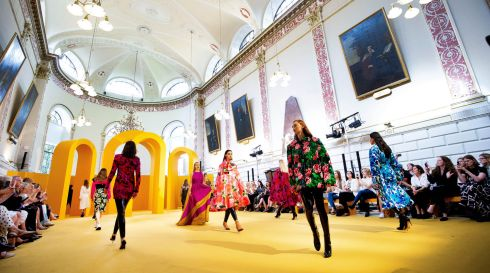 HIGHBROW FASHION: Brown Thomas unveils its Autumn/Winter 2019 International Designer Collections at the Examination Hall at Trinity College Dublin. Photograph: Tom Honan