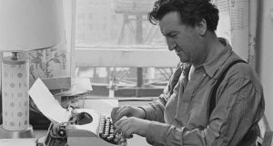 Brendan Behan at his typewriter, circa 1955. Photograph: Archive Photos/Getty Images
