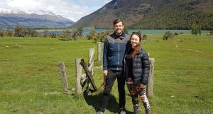 Roy O'Hara his partner Jenna Wiggill in Paradise near Queenstown