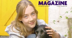 Saoirse Ronan on the cover of The Irish Times Magazine in September 2007.