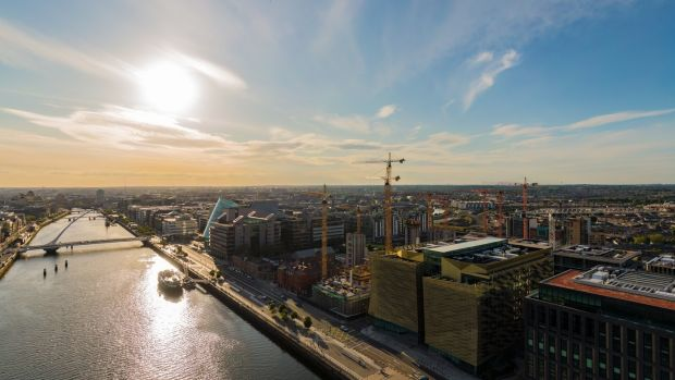 Like tower cranes in a storm, it feels that Dublin's construction is going where the wind blows it. Photograph: Muno Bidhaway/Muno Explore