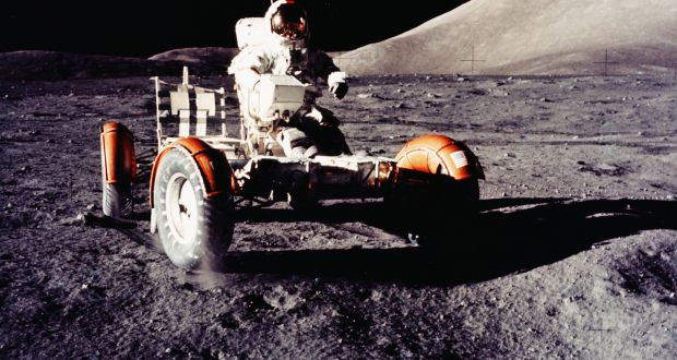 "Eugene Cernan on the Moon – holder of the ""Last Man on the Moon"" title since 1972. Photograph: Corbis via Getty Images"