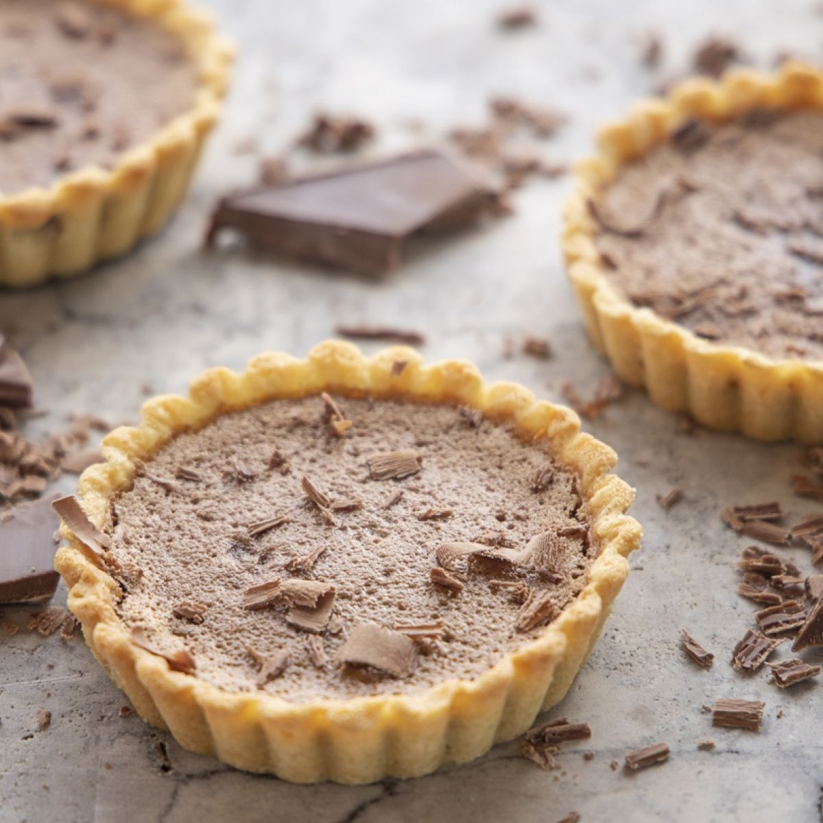 Chocolate Custard Tarts