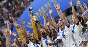 The USA celebrate winning the Women's World Cup  final  in Lyon. 'The USA brought a new form of bravado to women's sports.' Photograph: Christophe Simon/AFP/Getty Images