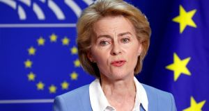 Ursula von der Leyen needs 375 votes for a majority in parliament, but is widely expected to get that. Photograph: Reuters/Francois Lenoir