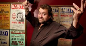 Comic  Brendan Grace pictured  at the Gaiety Theatre, Dublin, in 2001. File photograph: Dara Mac Dónaill