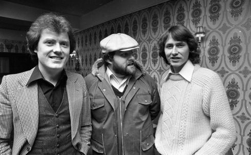 With singer Red Hurley (left) and composer Daniel Ellis at the Montrose Hotel, Dublin, in May 1979. Photograph: Getty Images/INM