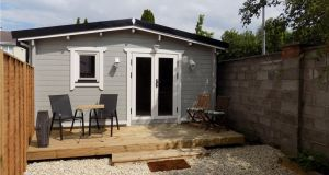 Log cabin in Kildare town for €80,000