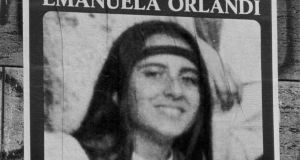 An undated  photograph  of a poster appealing for information on the whereabouts of Emanuela Orlandi, who disapeared on June 22nd 1983. Photograph: EPA/STF