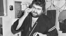Brendan Grace preparing before his show in the Gaiety Theatre, Dublin in 1986. Photograph:  Independent News and Media/Getty Images)