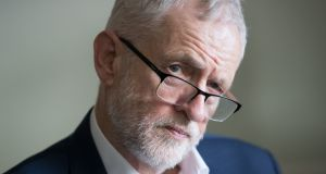 Labour Party leader Jeremy Corbyn: rejects allegations the Labour Party is anti-Semitic.  Photograph:  Aaron Chown/PA