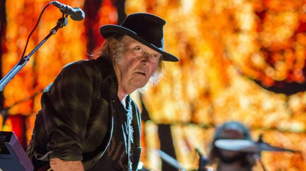 Neil Young: re-energised on this eight-date European tour. Photograph: Ebet Roberts/Redferns