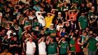 Cork City fans watch their team lose at home to Progrès Niederkorn. Photograph: Oisin Keniry/Inpho