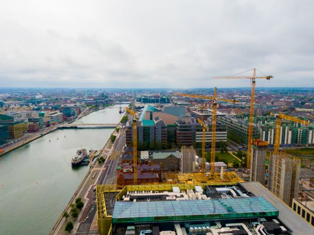 O'Connor says cranes feature so heavily in Dublin because of the scale of the building and the tightness of the sites. Photograph: Muno Bidhaway/Muno Explore