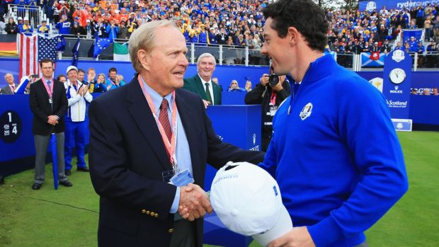Jack Nicklaus with Rory McIlroy at the 2014 Ryder Cup. Photograph: David Cannon/Getty