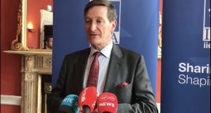 Dominic Grieve told an audience in Dublin that the chances of a border poll on Irish unification 'go up' if Britain leaves the EU without a deal in October. Photograph: Simon Carswell