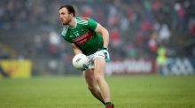 Mayo's Darren Coen in action against Roscommon. Photograph: Ryan Byrne/Inpho